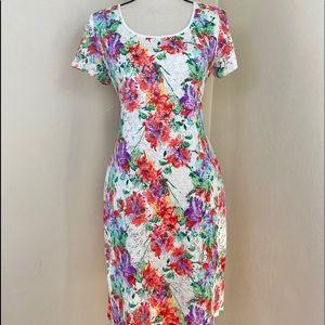 Ronnie Nicole Floral Lace Dress.Multi colors. Sz 8
